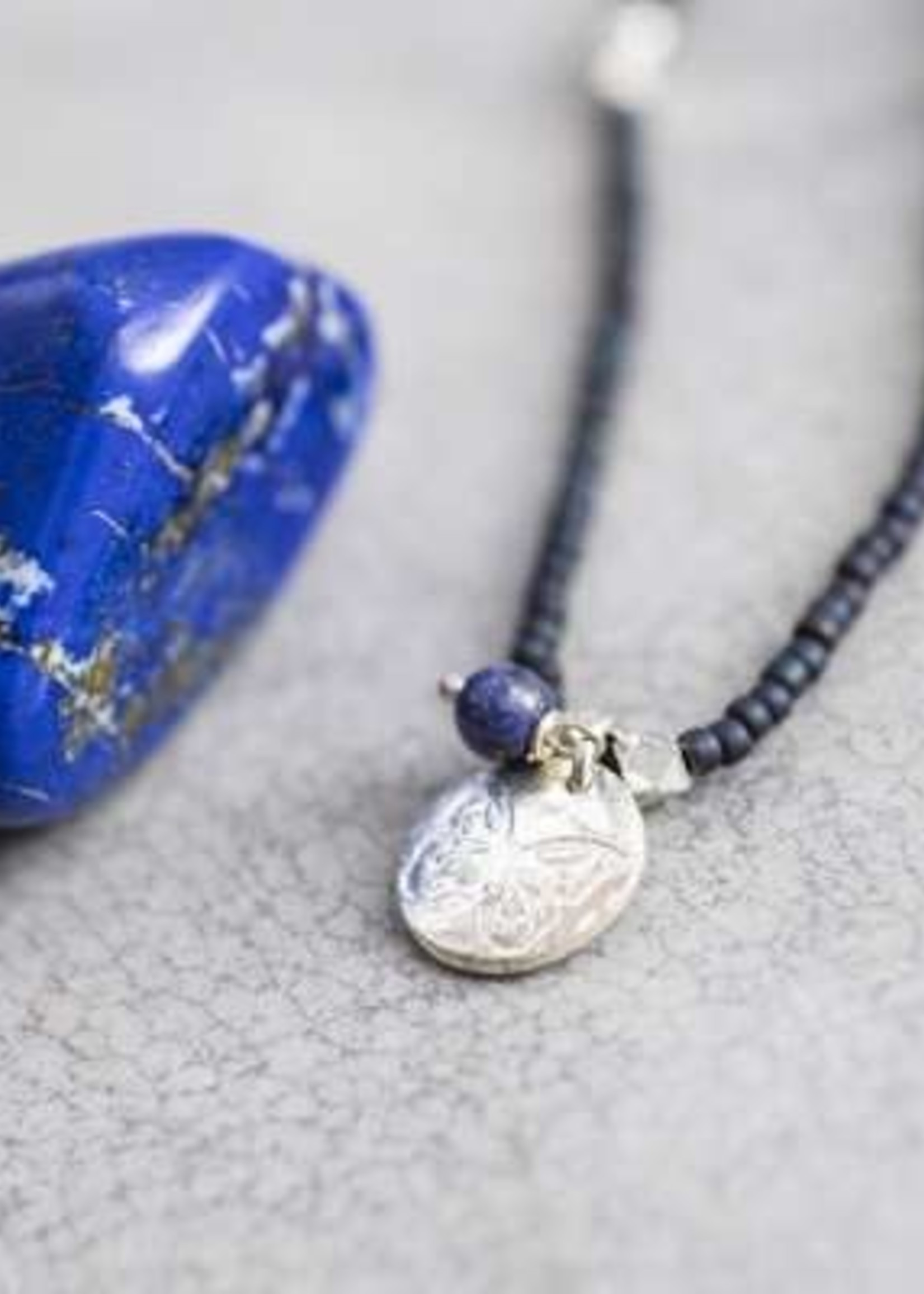 A Beautiful Story Truly Lapis Lazuli Butterfly Silver Necklace