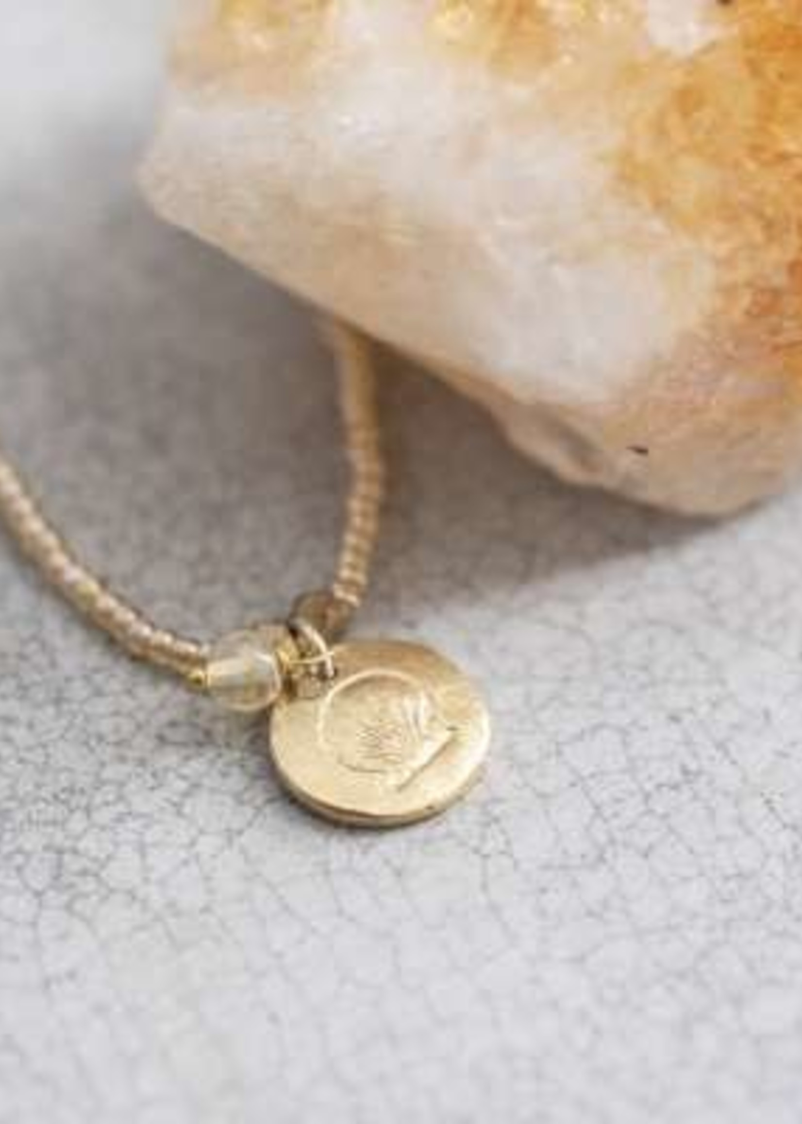 A Beautiful Story Truly Citrine Shell Gold Necklace