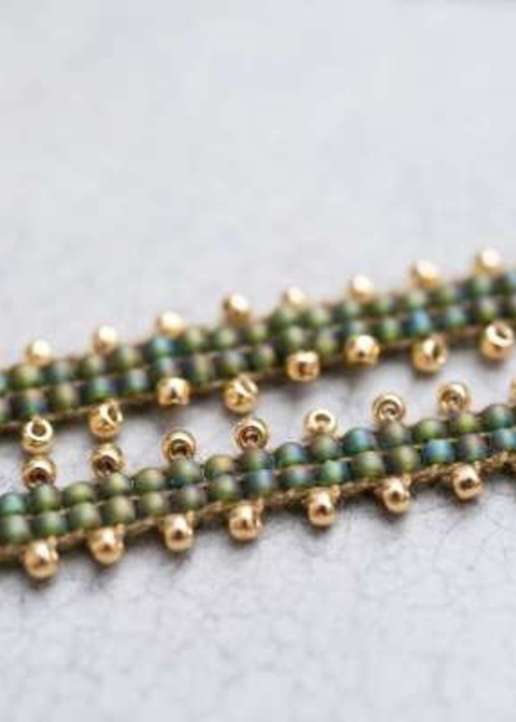 A Beautiful Story Positive Aventurine Gold Anklet