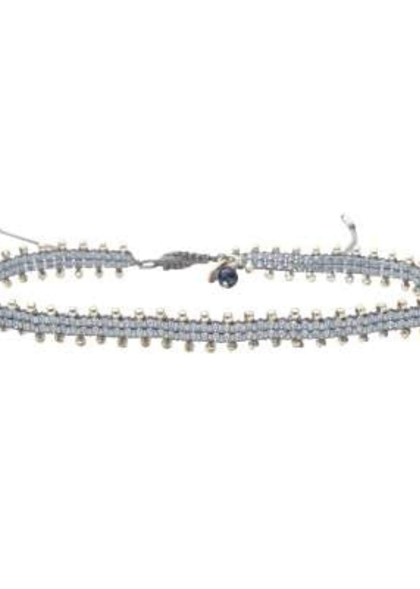 A Beautiful Story Positive Lapis Lazuli Silver Anklet