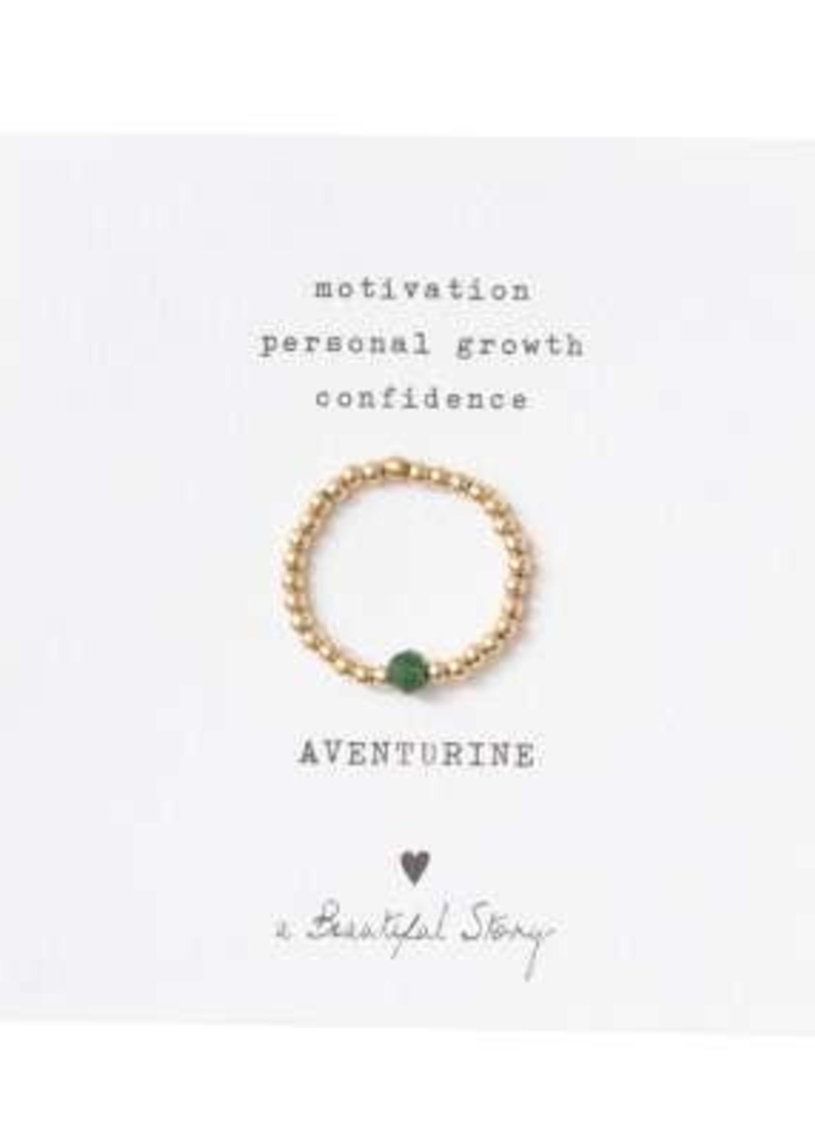 A Beautiful Story Sparkle Aventurine Ring M/L