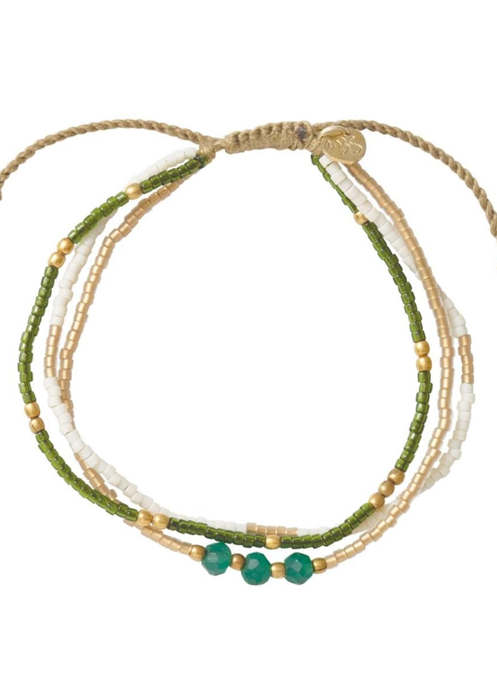 A Beautiful Story Gentle Aventurine Gold Bracelet