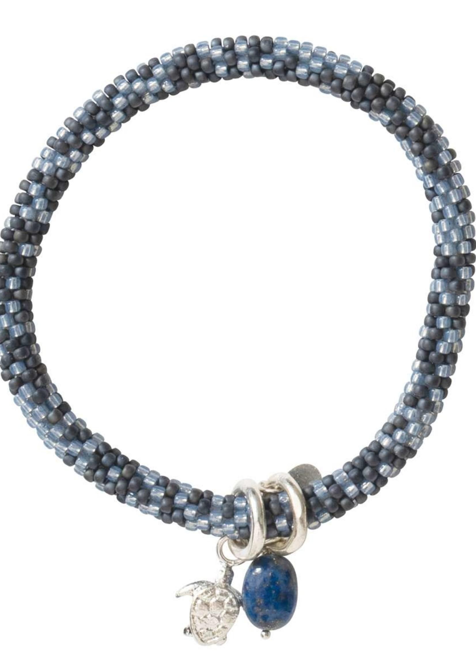 A Beautiful Story Jacky Multi Color Lapis Lazuli Silver Bracelet