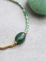 A Beautiful Story a Beautiful Story Ruby Aventurine Gold Bracelet