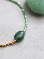 A Beautiful Story Ruby Aventurine Gold Bracelet