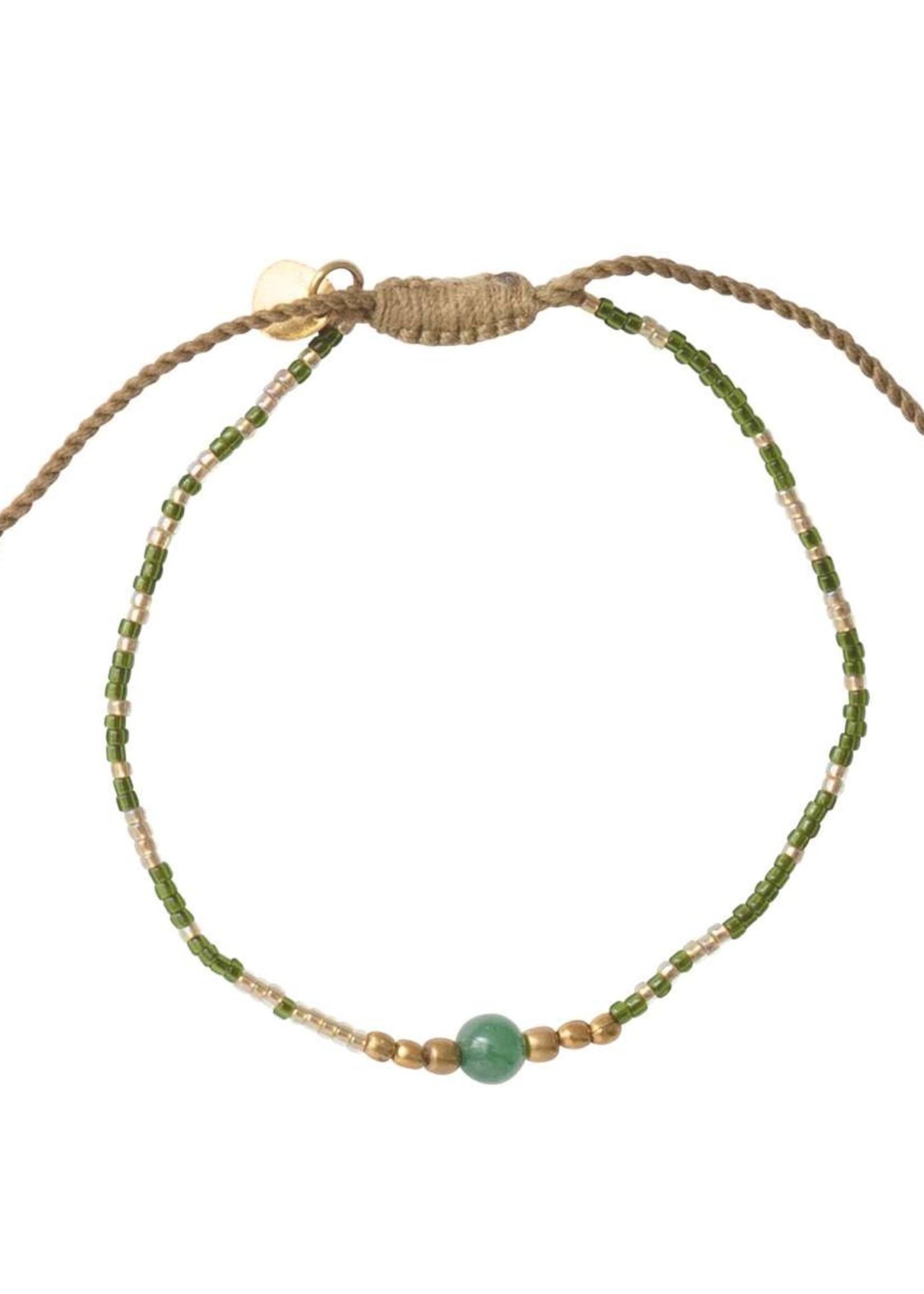 A Beautiful Story Iris Aventurine Gold Bracelet