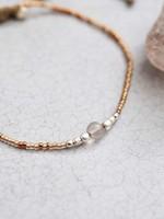 A Beautiful Story a Beautiful Story Iris Rookkwarts zilver armband