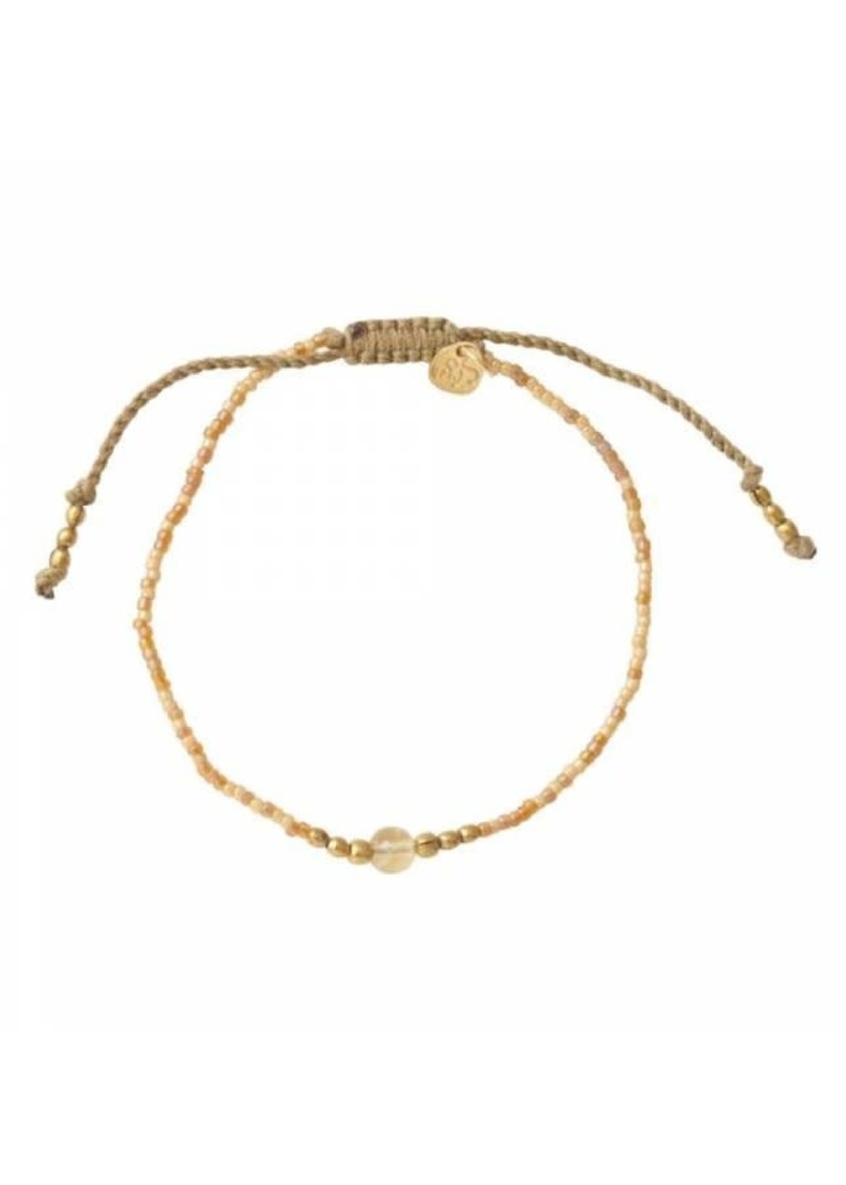 A Beautiful Story Iris Citrine Gold Bracelet