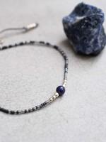 A Beautiful Story a Beautiful Story Iris Lapis Lazuli zilver armband
