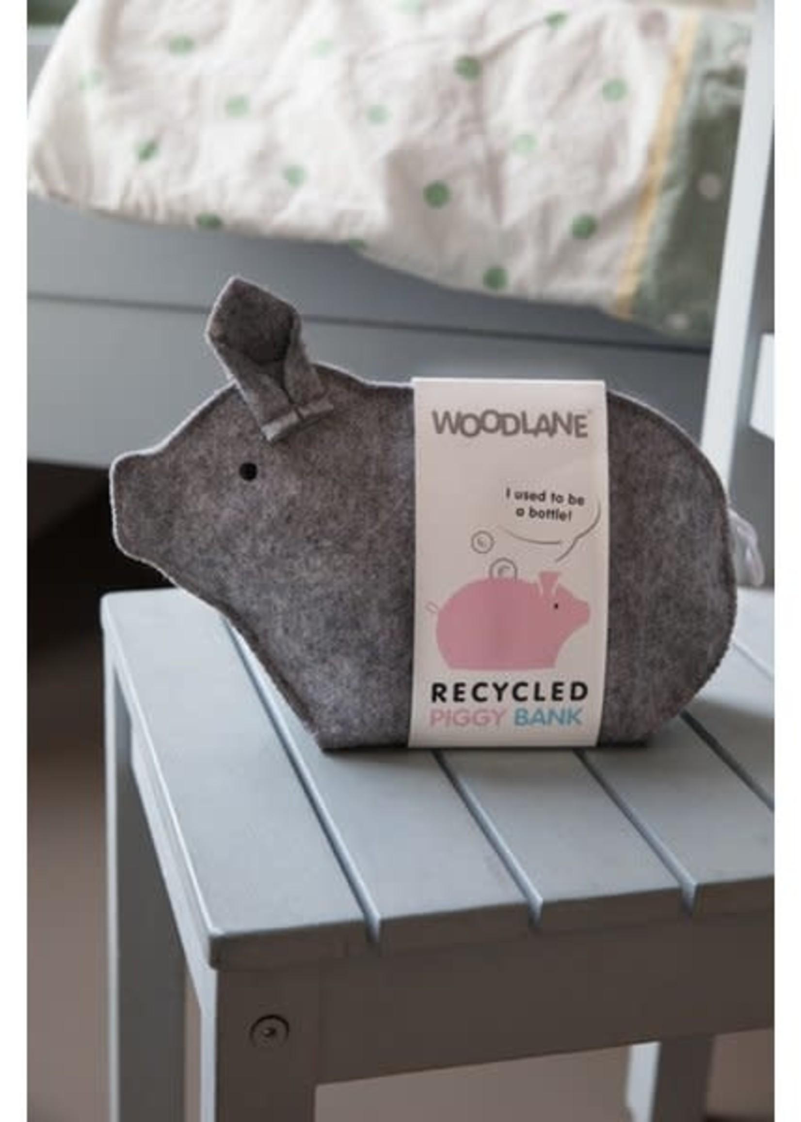 Woodlane Spaarvarken gerecycled grijs