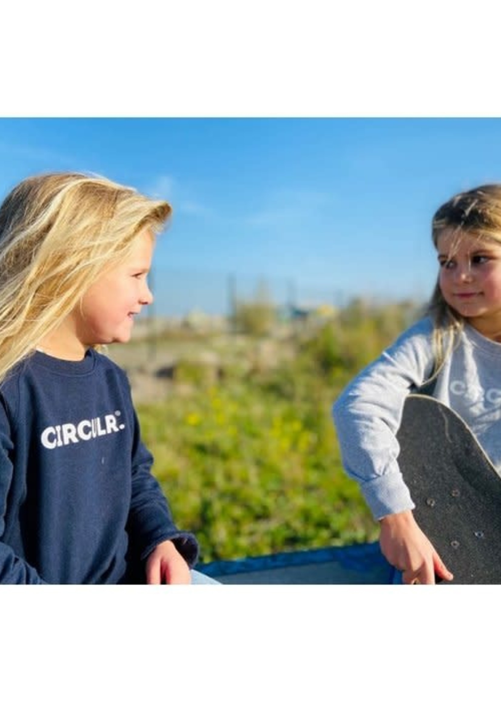 Woodlane CIRCULR. Sweater Kids Grey (unisex)