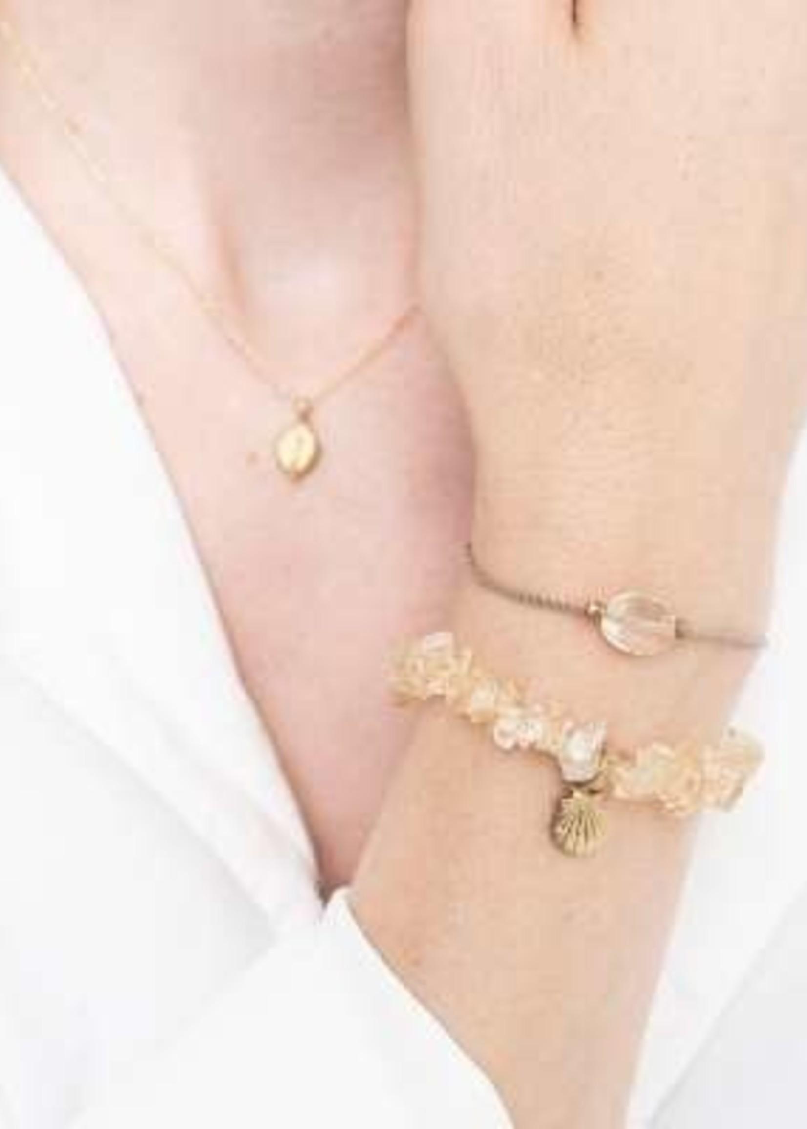 A Beautiful Story Gemstone Card Citrine Gold Bracelet