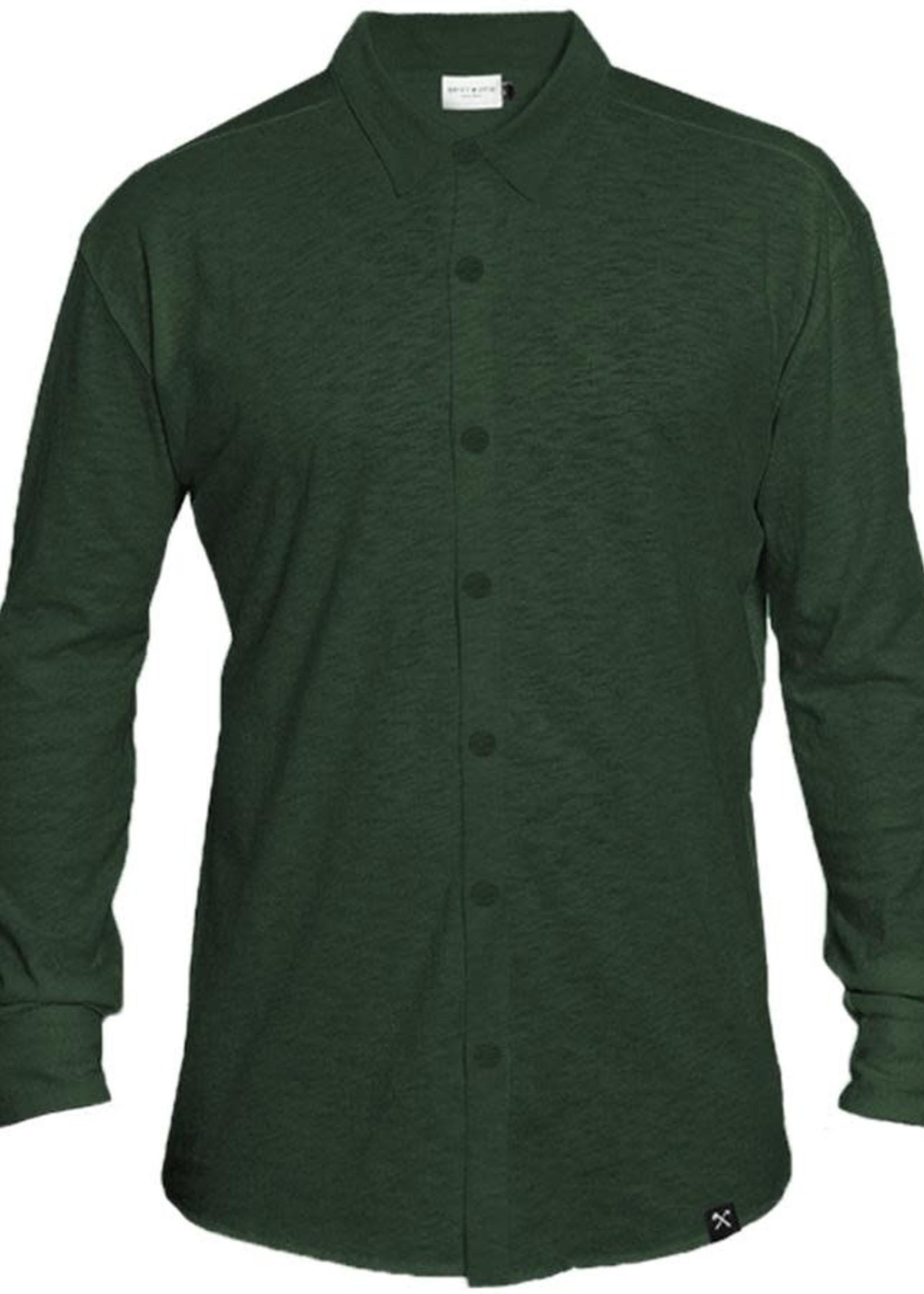 The Driftwood Tales The Driftwood Tales - Overhemd Biologisch katoen - donker groen