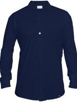 The Driftwood Tales The Driftwood Tales - Overhemd - Biologisch katoen - navy blauw - verborgen button down