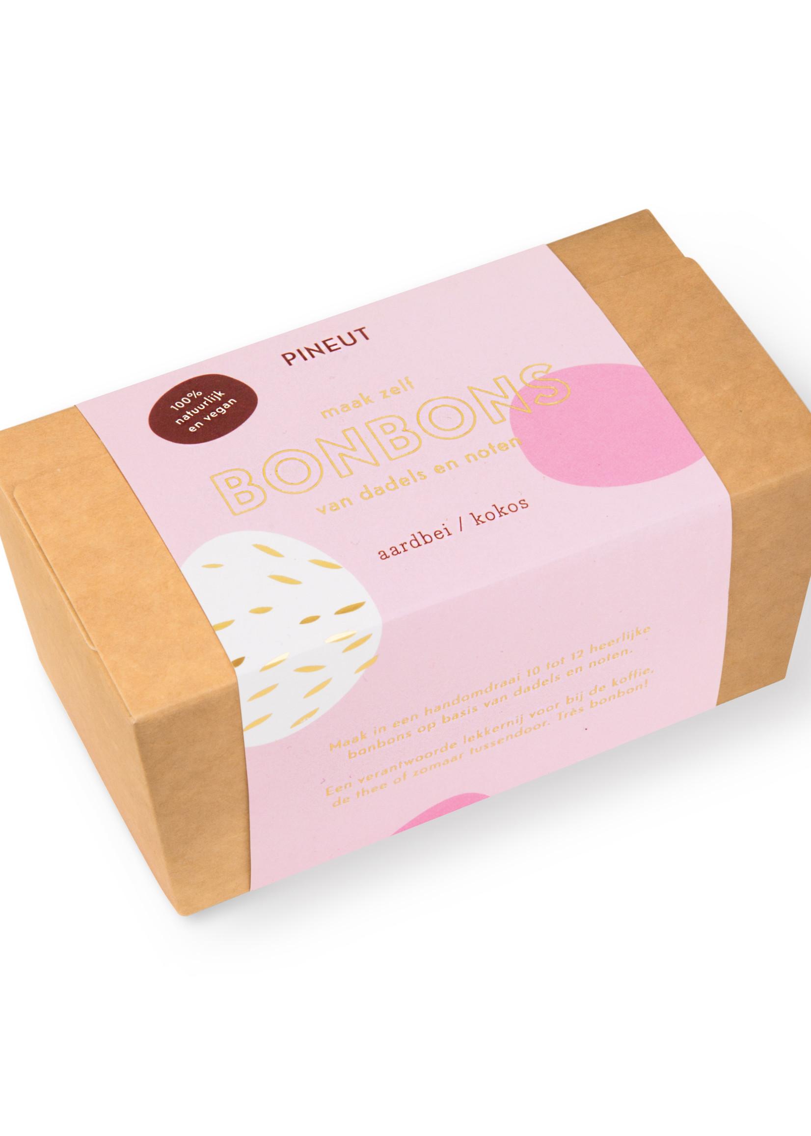 Pineut - Bonbons -Aardbeien Kokos
