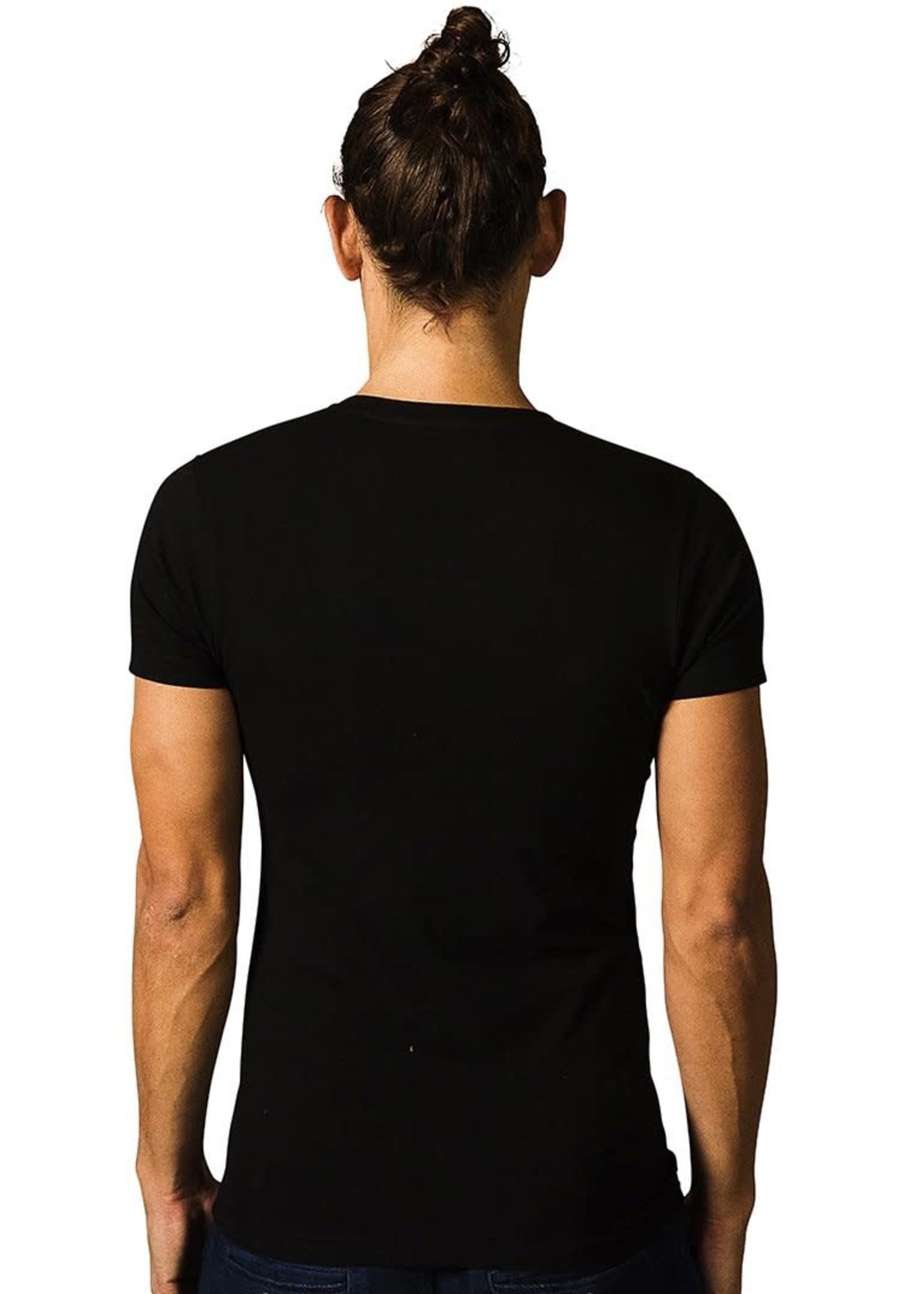 The Driftwood Tales The Driftwood Tales - T-shirt Basic - Biologisch katoen - zwart - V - hals