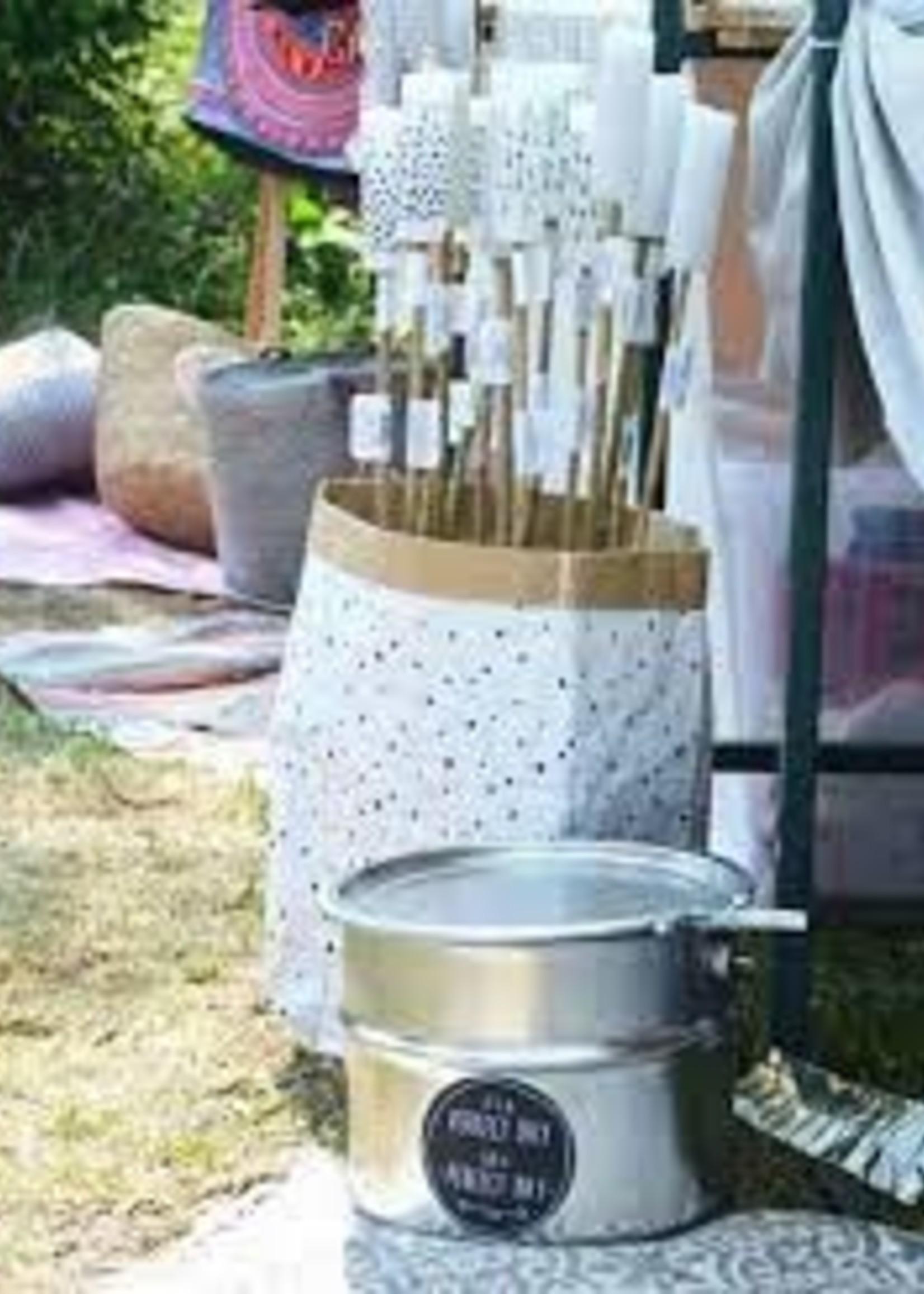 Rustik RRustik- Bamboe Tuin Fakkel 63cm - Koel Grijs kaars -3.8 x12cm - Eco Friendly