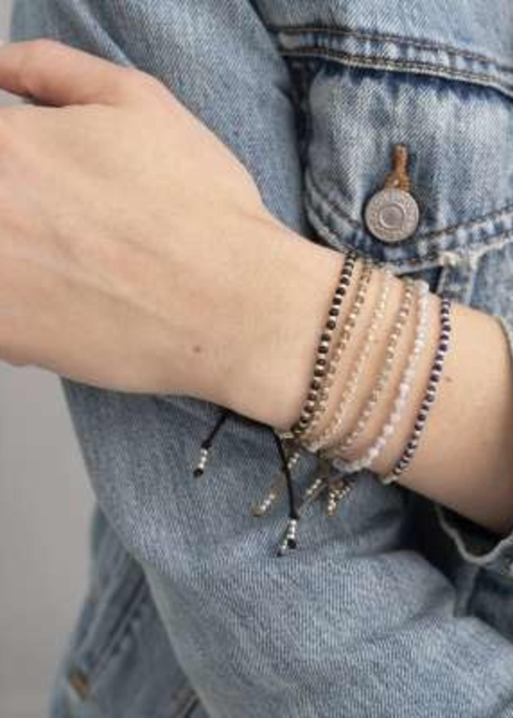 A Beautiful Story Beautiful Blauwe Agaat Zilver Armband