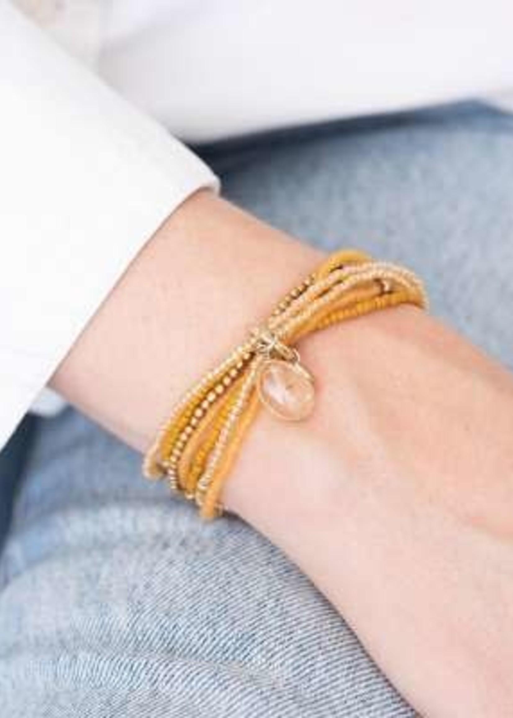 A Beautiful Story Nirmala Citrien Goud Armband