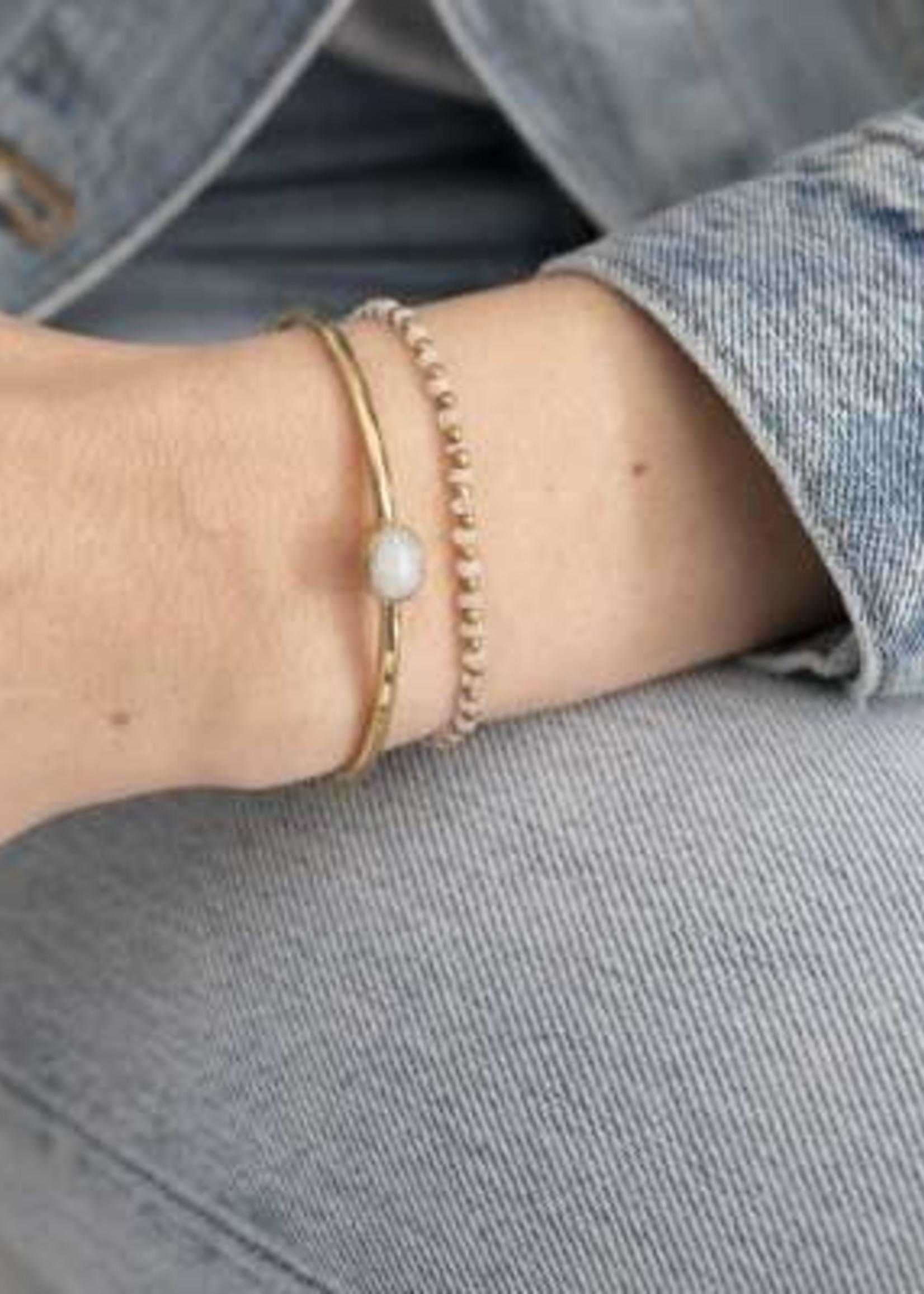 A Beautiful Story Beautiful Maansteen Goud Armband