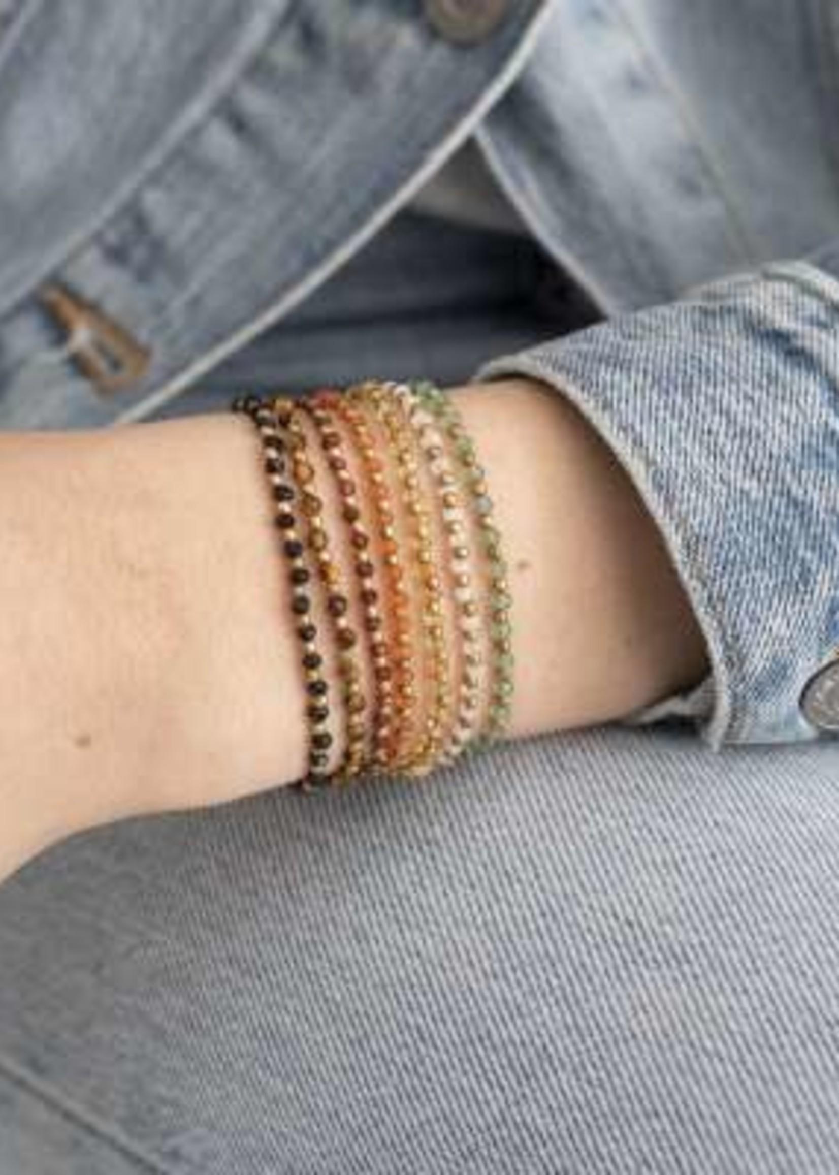 A Beautiful Story Beautiful Zwarte Onyx Goud Armband