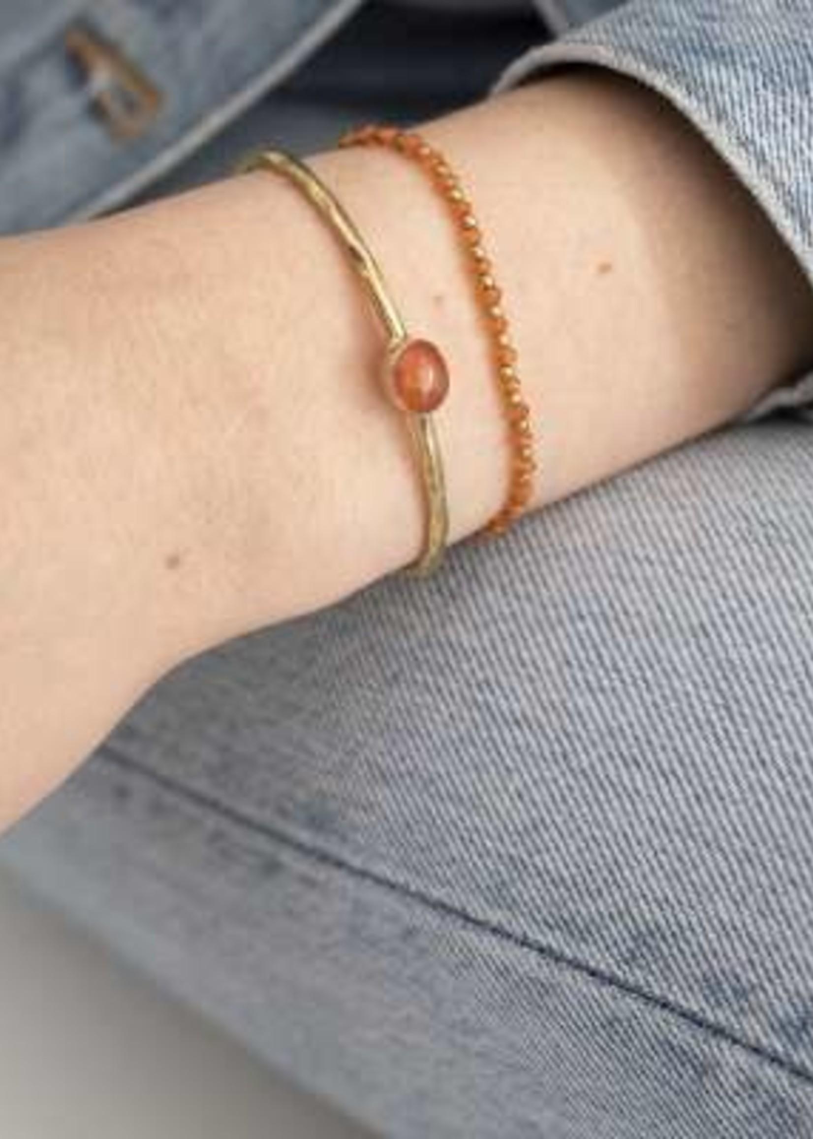 A Beautiful Story Beautiful Carneool Goud Armband