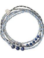 A Beautiful Story a Beautiful Story Together Lapis Lazuli Zilver Armband