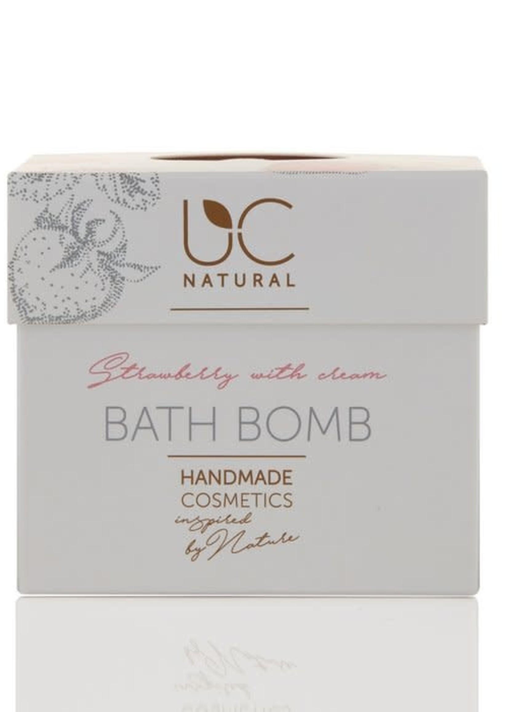 UC Naturel UC Natural - Bath Bomb - Strawberry with Cream