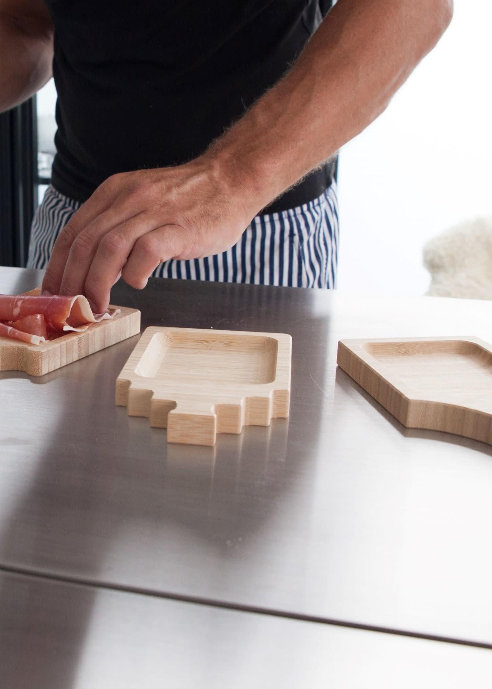 Woodlane Woodlane - Duurzame bamboe tapas plankjes -  Tapazz -3-Pack