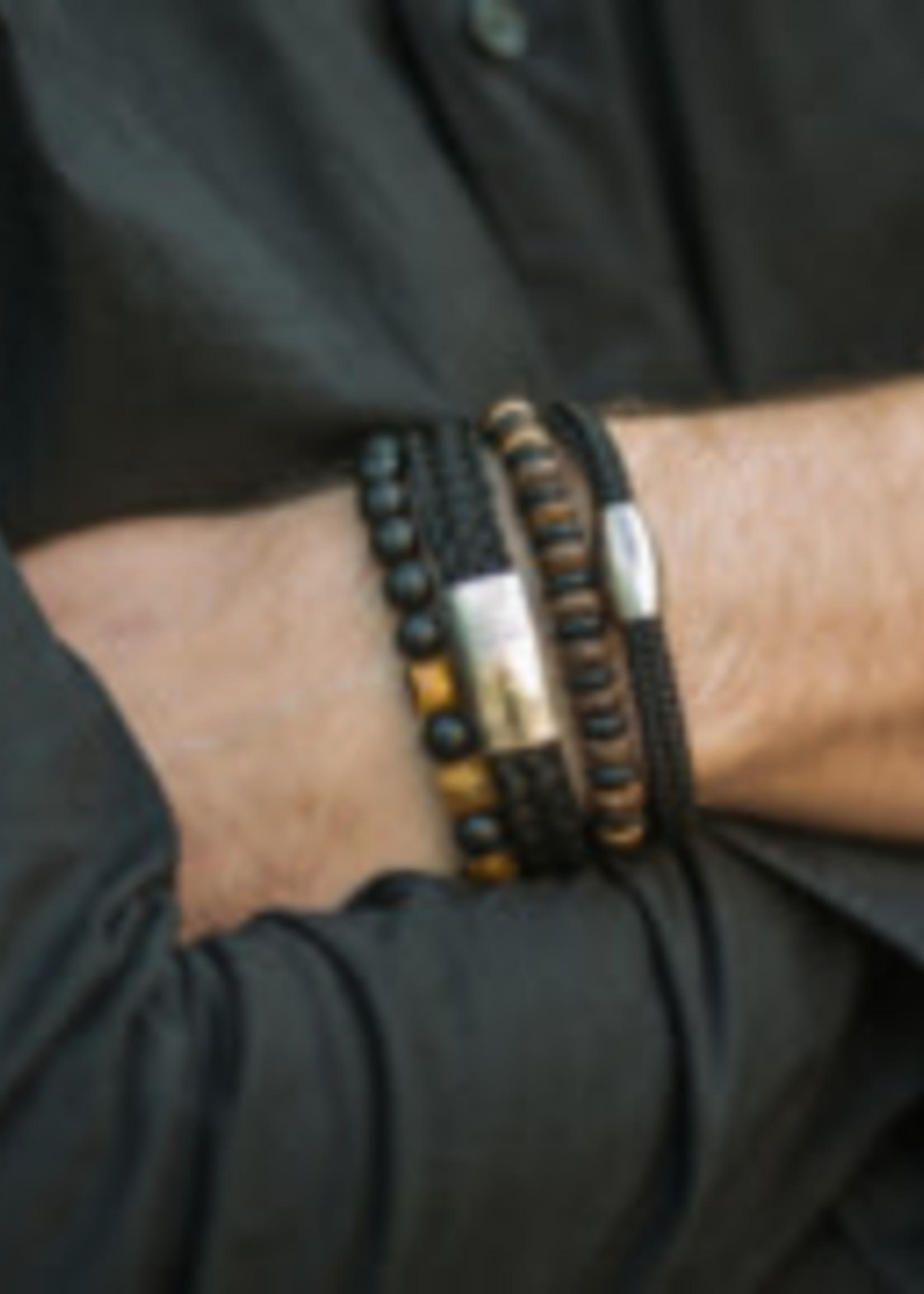 By Julian By Julian- armband Laut zwart (100% gerecycled koord) M (18cm)
