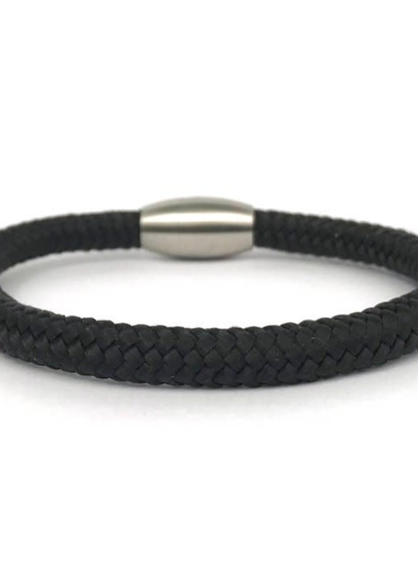 By Julian By Julian- armband Laut zwart (100% gerecycled koord) XL (20cm)
