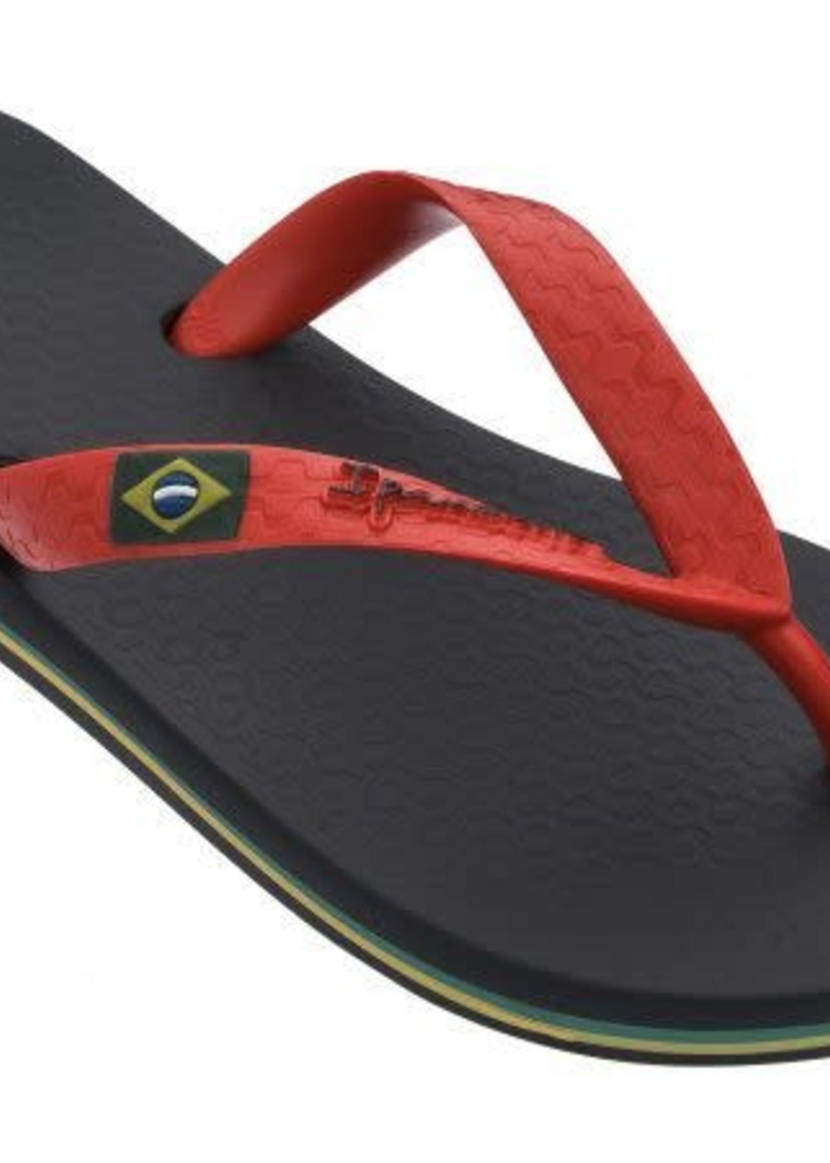 Ipanema Ipanema Slipper Kids - Clas Brazil - Zwart/Rood - Vegan