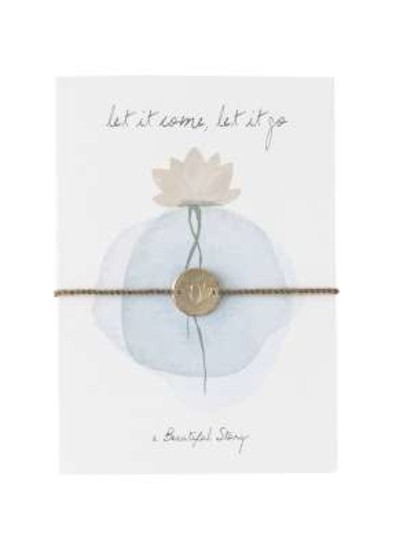 A Beautiful Story Jewelry Postcard Lotus | let it come, let it go