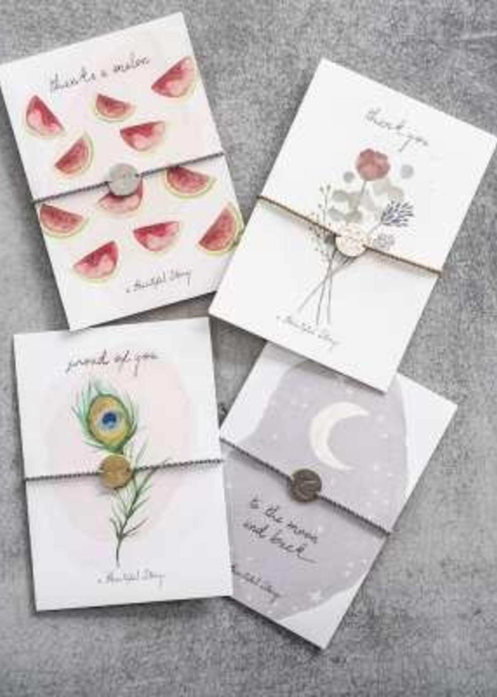 A Beautiful Story Jewelry Postcard Flowers - thank you