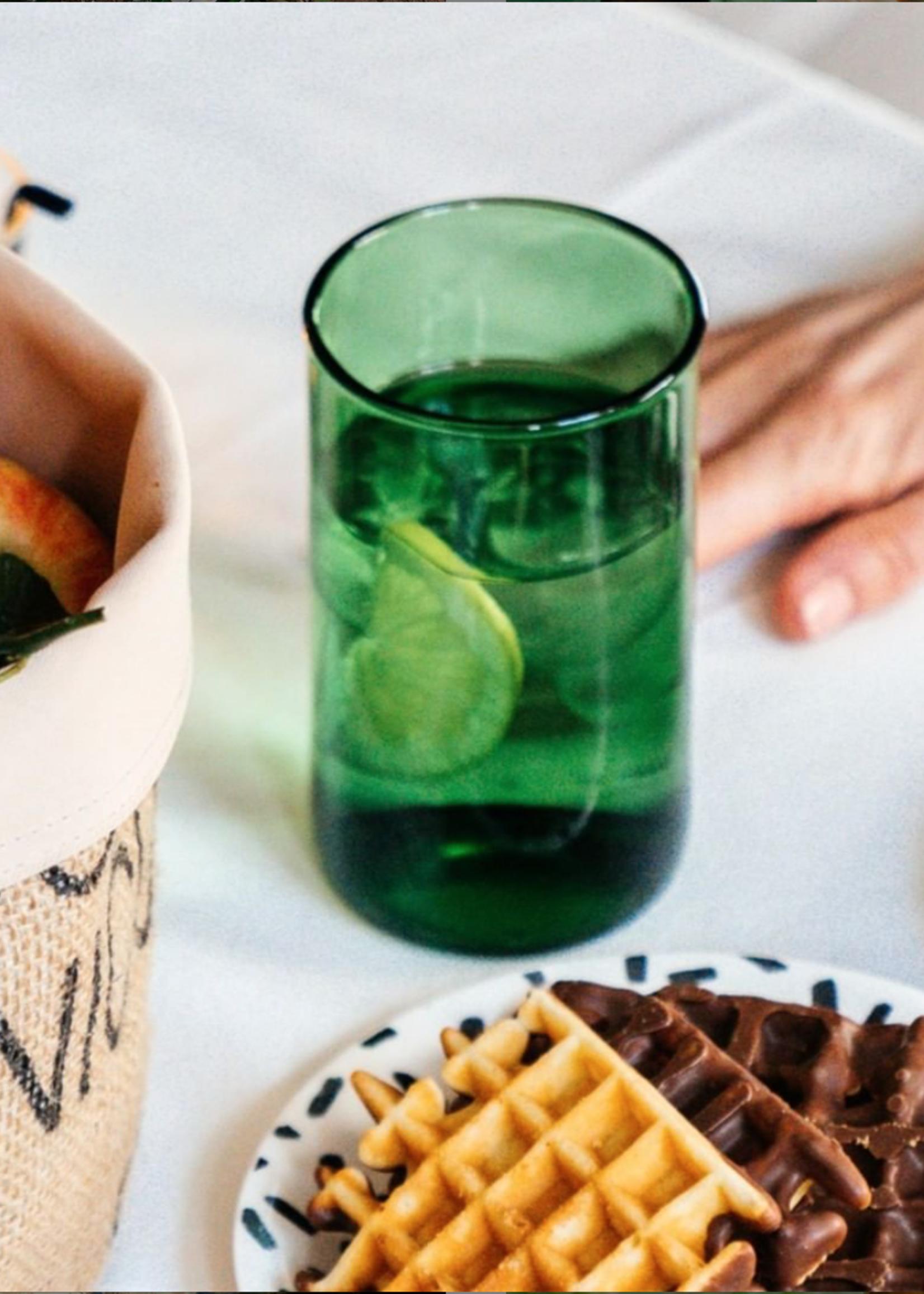 IWAS IWAS - Drinkglas Groen L - upcycled Wijnfles