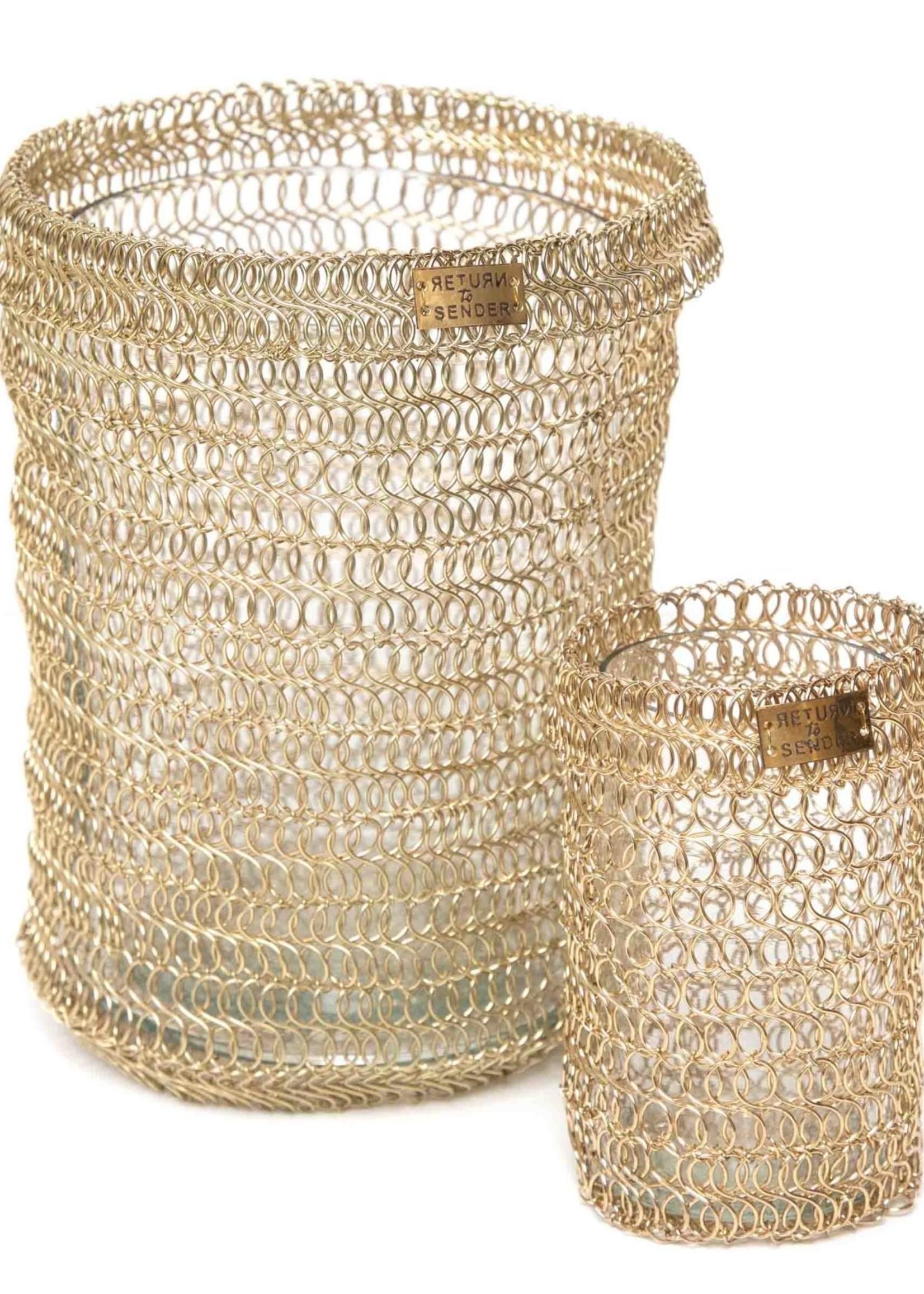 Return to Sender Return to Sender- Golden woven tealight- large
