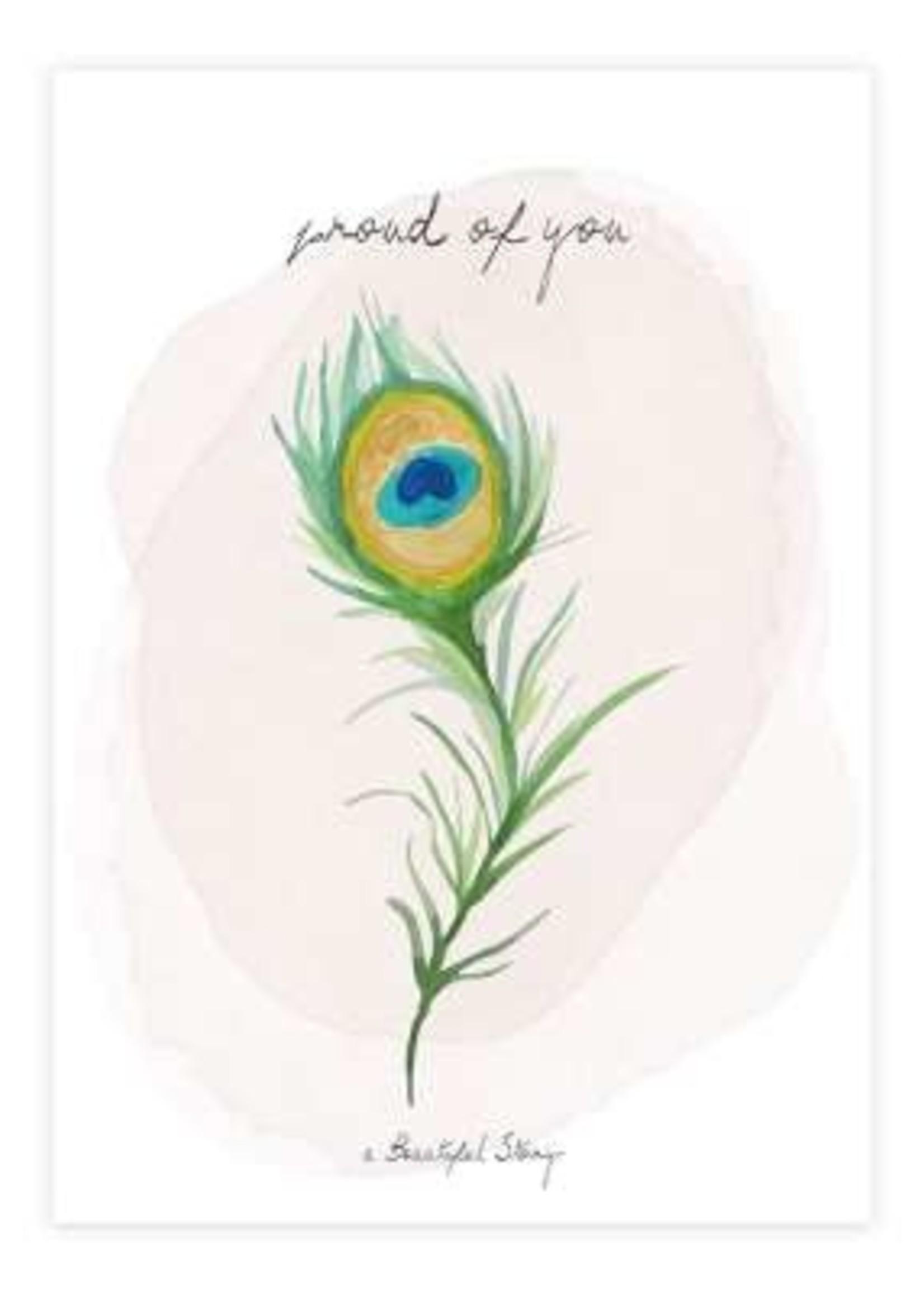 A Beautiful Story a Beautiful Story Jewelry Postcard Peacock - Proud of you