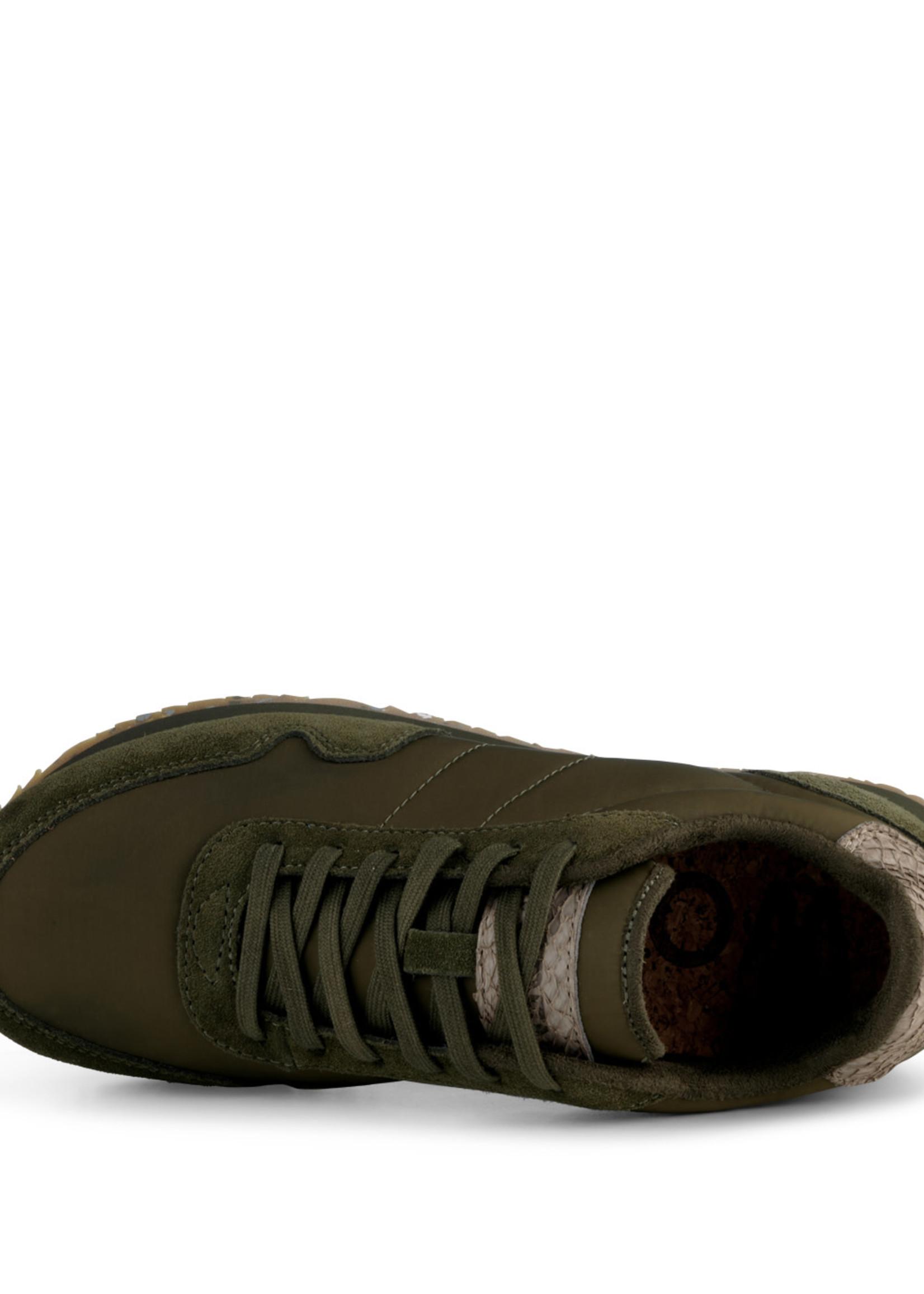 Woden Woden - Nora III Leather Sneaker - Dark Olive