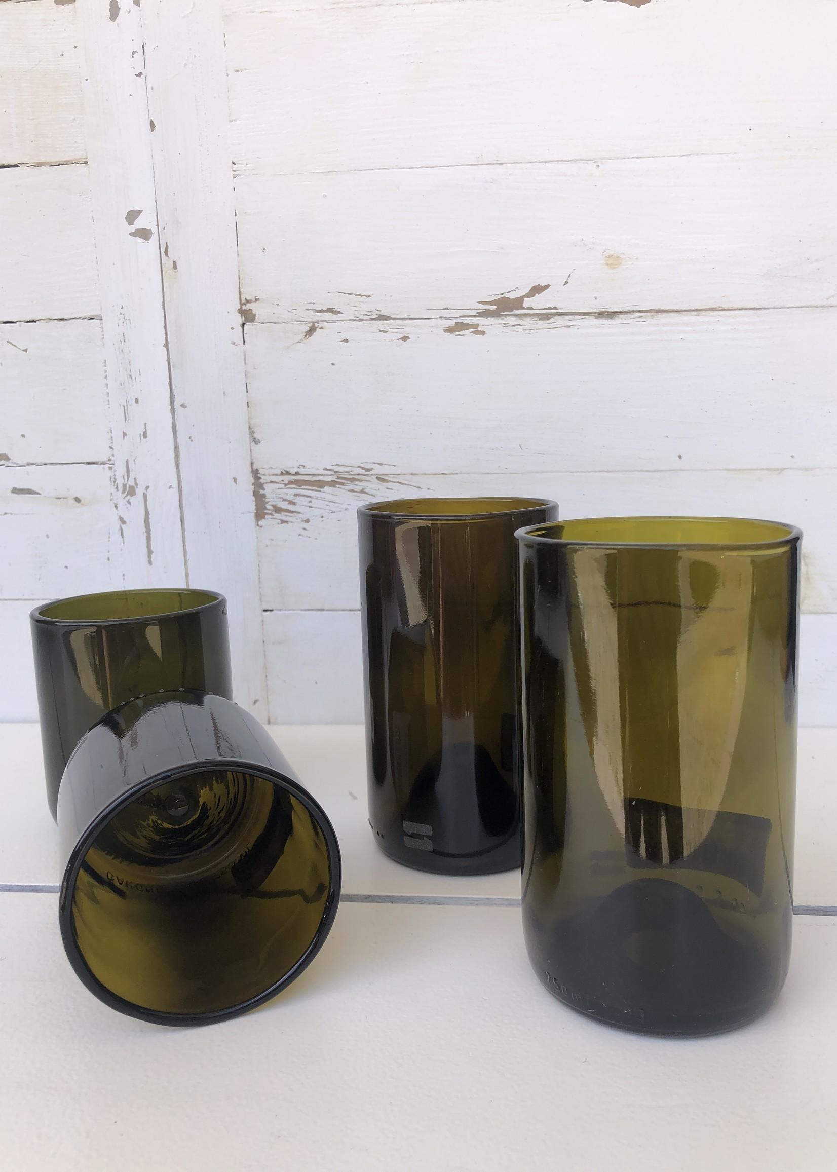 IWAS IWAS - Drinkglas Olijf  L - upcycled Wijnfles