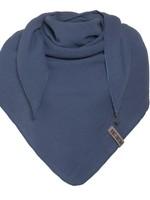 Knit Factory Knit Factory - Zomersjaal biologisch katoen- Omslagdoek - Jeans Blauw - Duurzaam