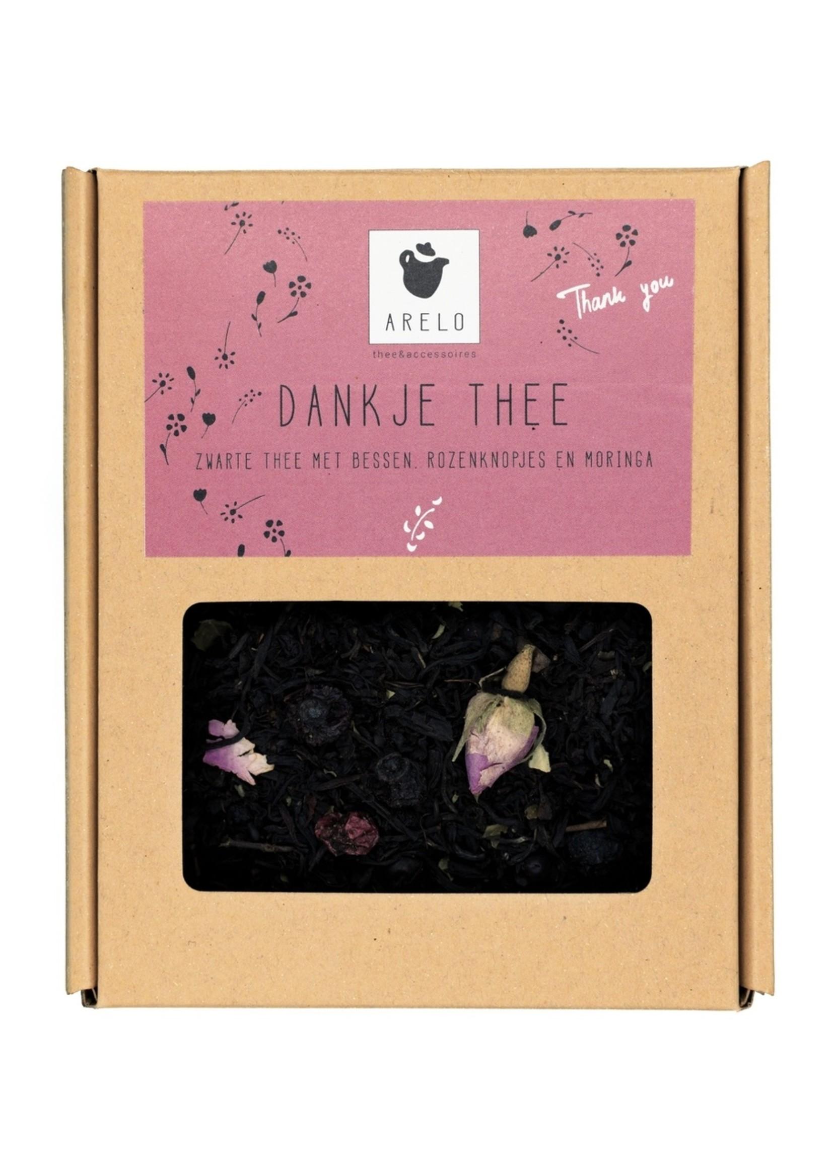 Arelo Thee Arelo - Dank je Thee - Zwarte Thee, bessen, rozenknopjes, moringa