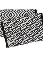 Yoshiko Yoshiko-ASHU placemat zwart wit - set van 2