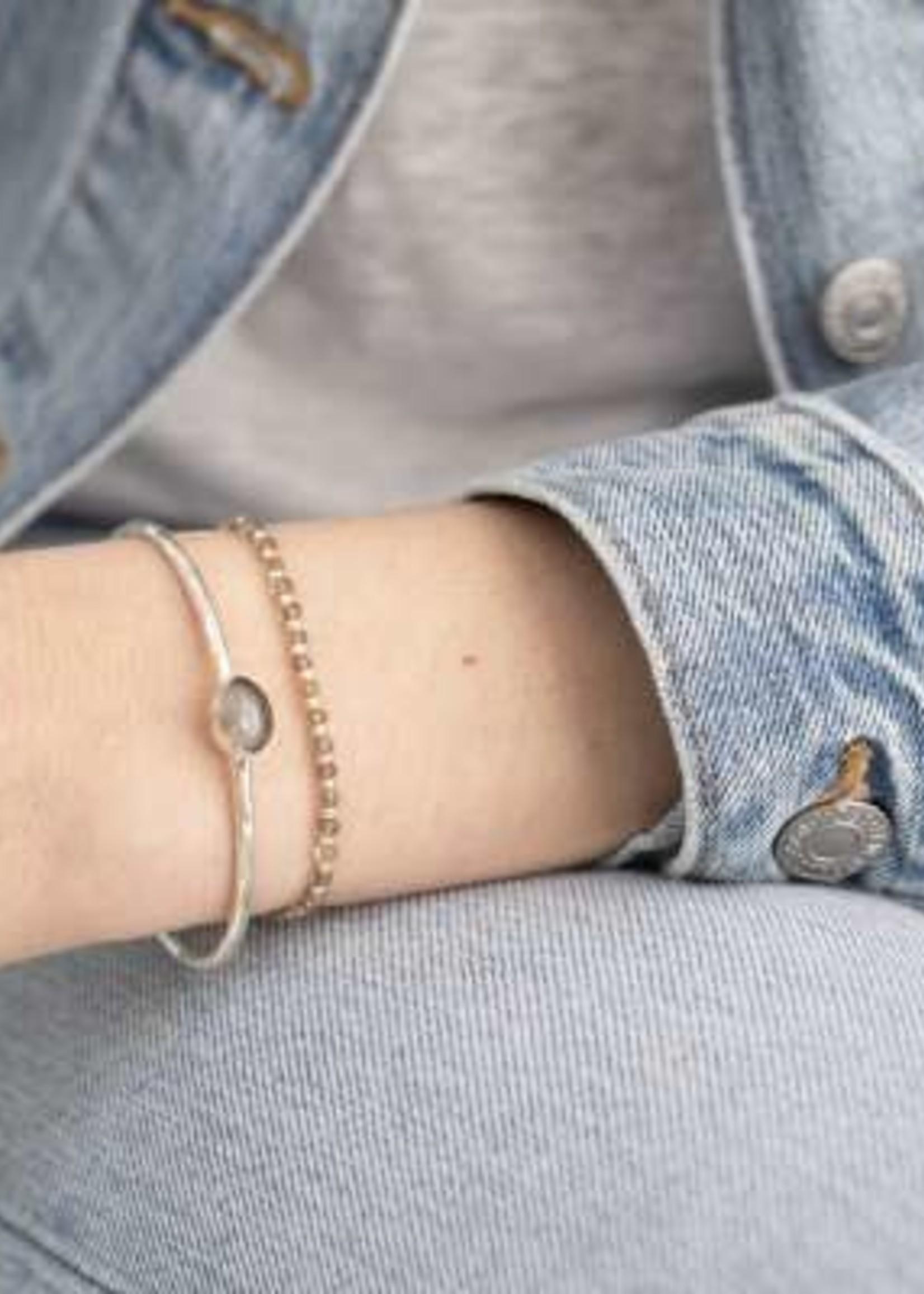 A Beautiful Story a Beautiful Story Beautiful Rookkwarts Zilver Armband