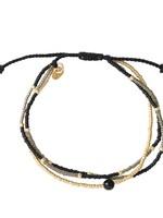 A Beautiful Story a Beautiful Story - Party Zwarte Onyx Goud Armband