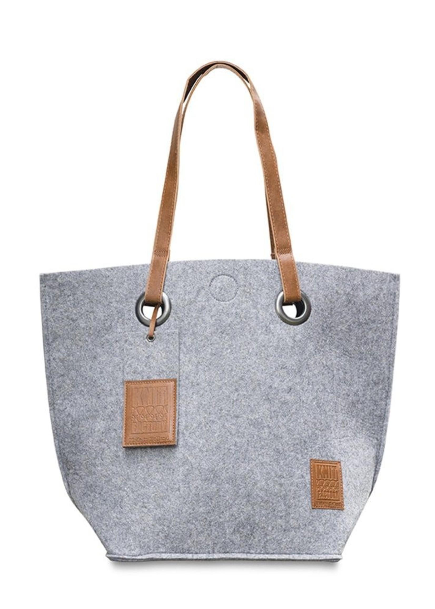 Knit Factory Tess Shopper - Licht grijs