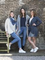 Knit Factory Knit Factory - Luna vest lang - Licht Grijs