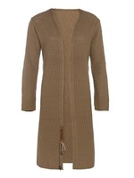 Knit Factory Knit Factory - Luna gebreid vest lang- Camel