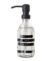 WELLmark WELLmark - Handzeep Fris Linnen - helder glas  zwarte pomp - 250ml - 'may all your troubles be bubbles'