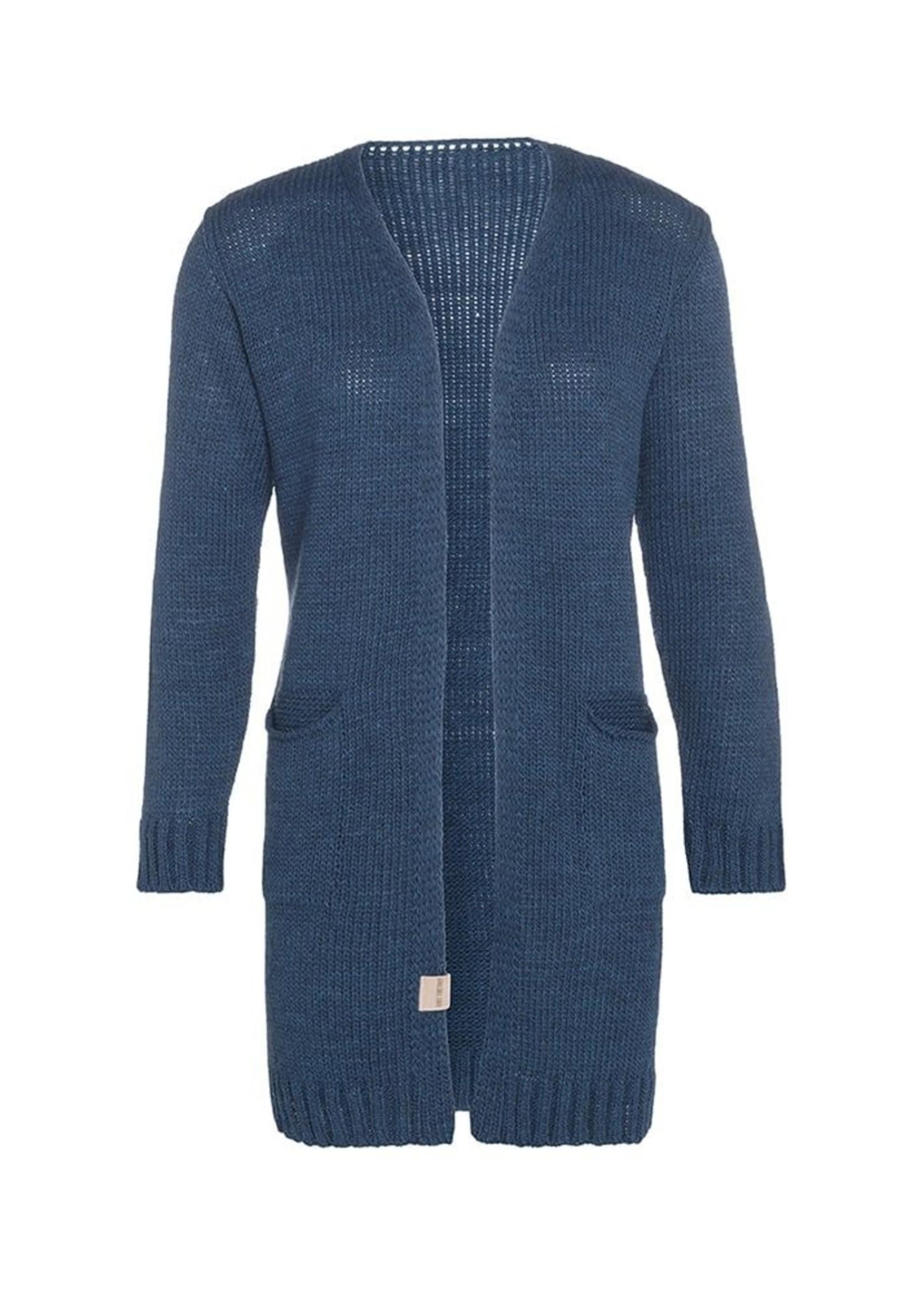 Knit Factory Knit Factory - Ruby gebreid vest met steekzak -  Petrol