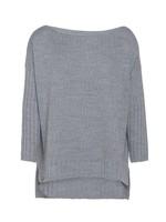 Knit Factory Knit Factory - Kylie Sweater Gebreid - Lichtgrijs